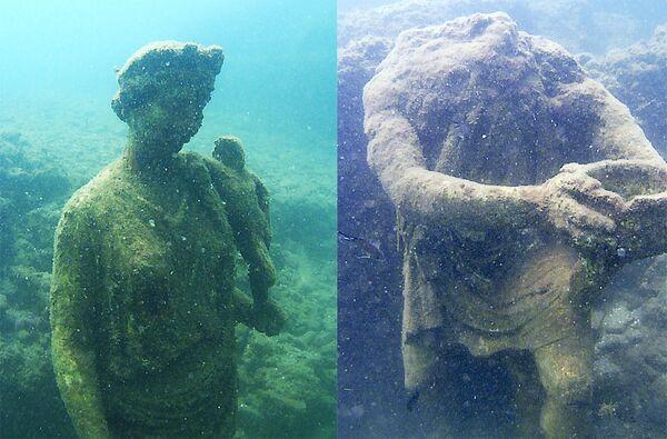 Sochy v podvodním archeologickém parku Baja, Itálie - Sputnik Česká republika