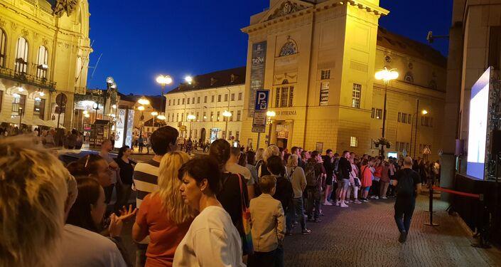 Muzejní noc, fronta před ČNB