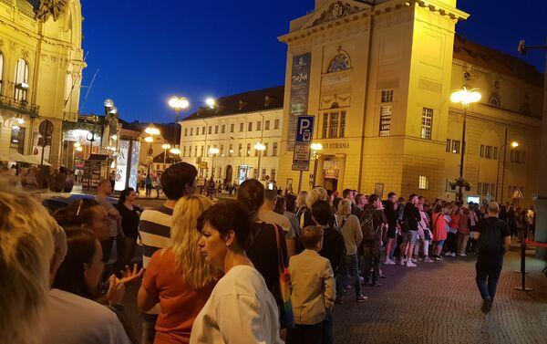 Muzejní noc, fronta před ČNB  - Sputnik Česká republika