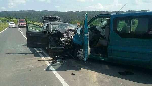 Dopravní nehoda. Spišská Belá, Slovensko - Sputnik Česká republika