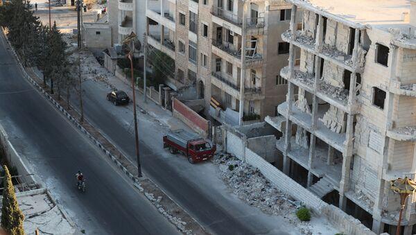 Zničené domy v Idlibu - Sputnik Česká republika