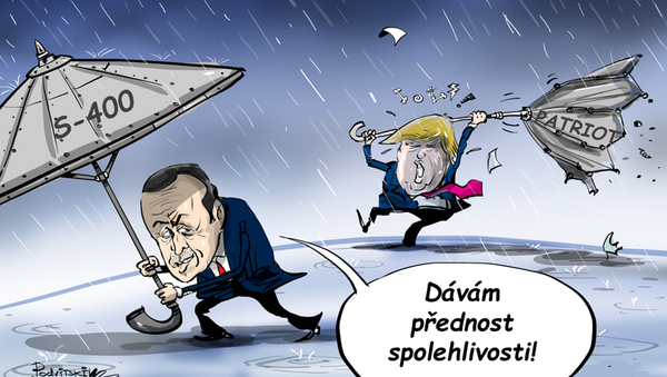 Erdoga a Trump  - Sputnik Česká republika