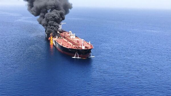 Tanker v Ománském zálivu - Sputnik Česká republika