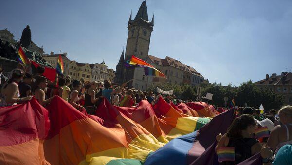 Pochod gayů Prahou. Archivní foto - Sputnik Česká republika