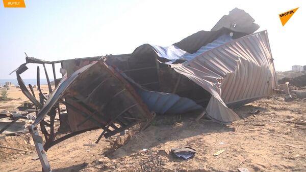 Letecké útoky Izraele způsobují škody v jižním pásmu Gazy - Sputnik Česká republika