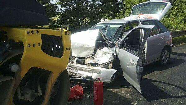 Dopravní nehoda, dálnice D1, Slovensko - Sputnik Česká republika