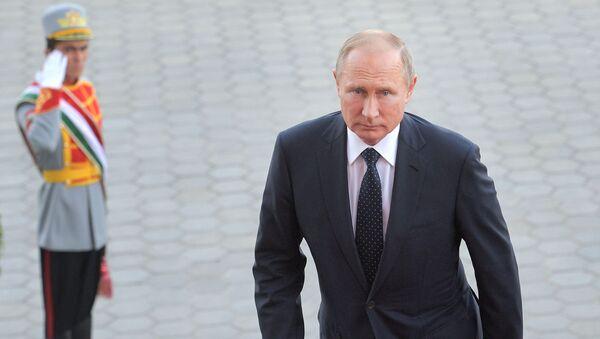 Vladimir Putin v Dušanbe - Sputnik Česká republika