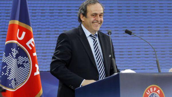 Bývalý prezident UEFA Michel Platini v Paříži. 2011 - Sputnik Česká republika
