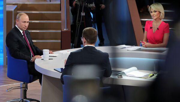 Putin na Přímé lince (dne 20. června 2019) - Sputnik Česká republika
