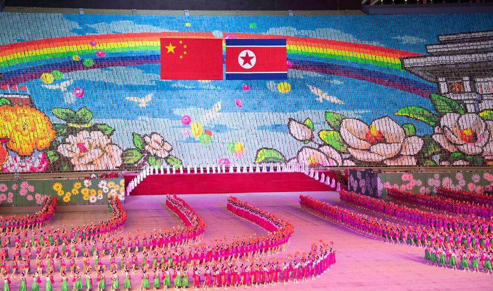 Spartakiáda na počest návštěvy Si Ťin-pchinga.