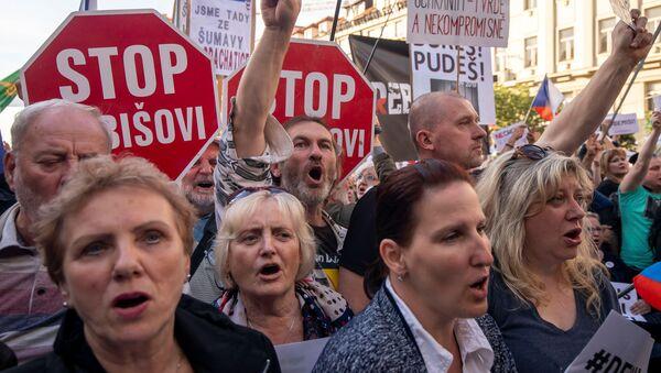 Protivládní demonstrace v Praze - Sputnik Česká republika