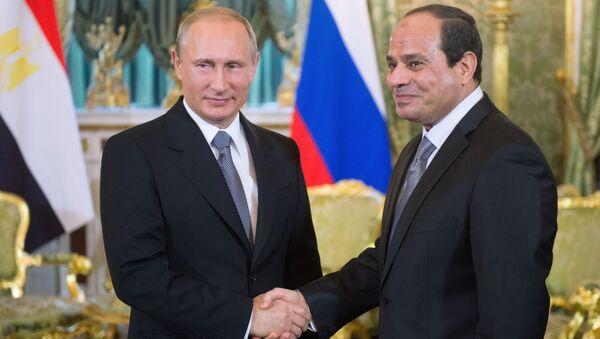 Vladimir Putin a Abd al-Fattáh as-Sísí - Sputnik Česká republika