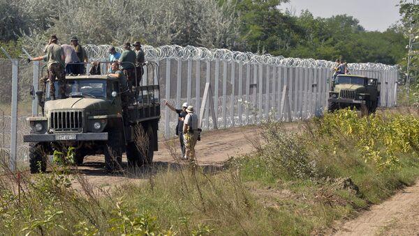 Plot na hranici Maďarska a Srbska.Ilustrační foto - Sputnik Česká republika