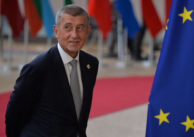 Premiér České republiky Andrej Babiš na summitu EU v Bruselu