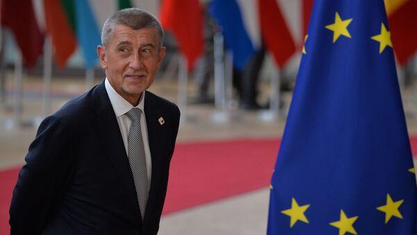 Premiér České republiky Andrej Babiš na summitu EU v Bruselu - Sputnik Česká republika