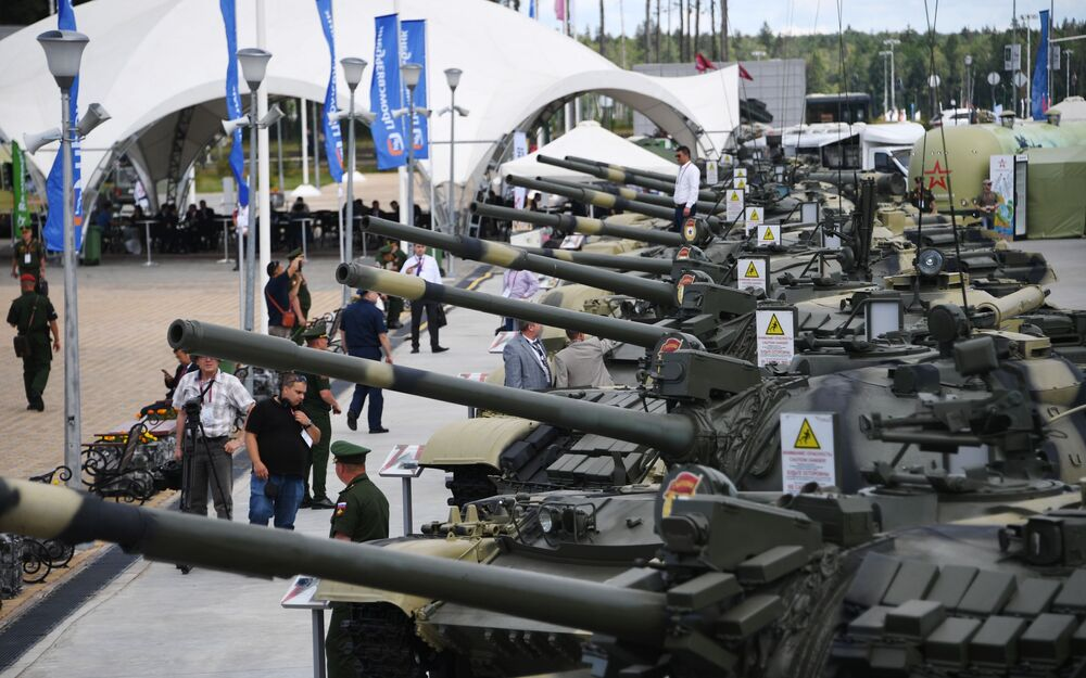 Vojenská technika na Mezinárodním vojensko-technickém fóru Army 2019.