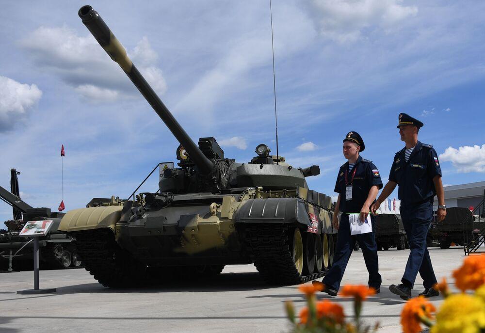 Tank T-55A na Mezinárodním vojensko-technickém fóru Army 2019.