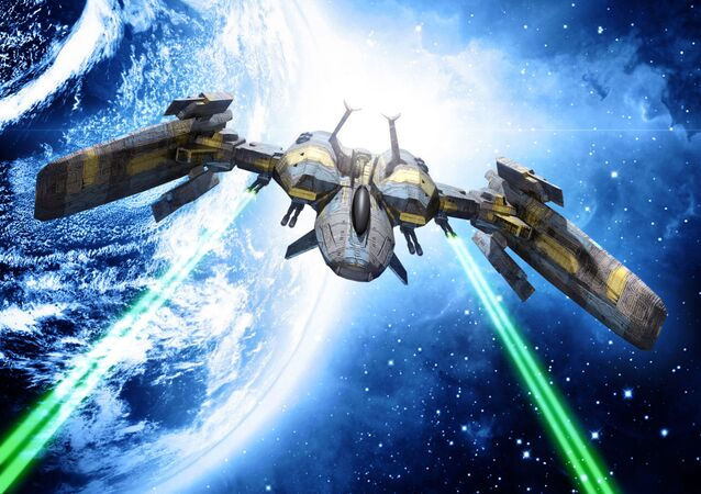 Kosmická loď s laserovými zbraněmi