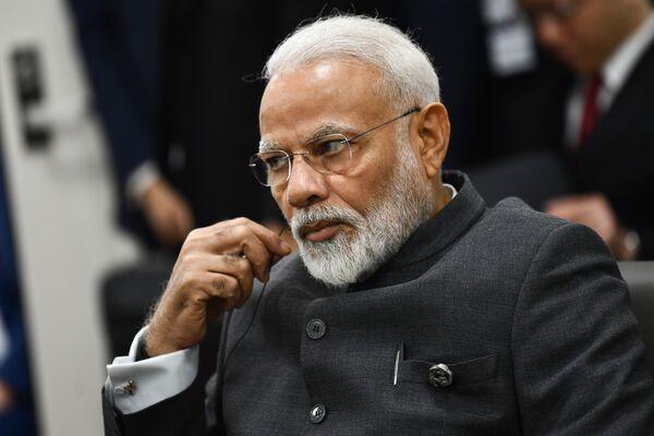 Indický premiér Naréndra Módí na summitu G20 v Ósace. - Sputnik Česká republika