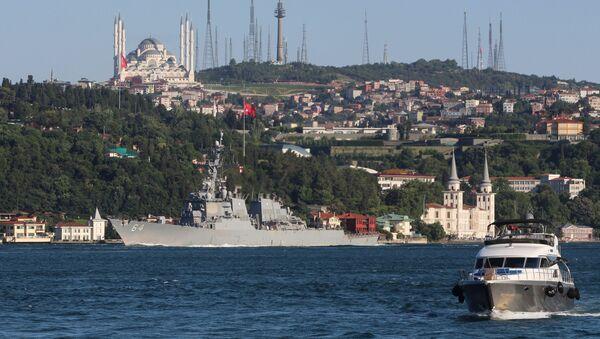 Torpédoborec amerického námořnictva Carney  - Sputnik Česká republika