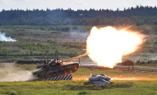 Tank T-90A na mezinárodním vojensko-technickém fóru Army-2019. - Sputnik Česká republika