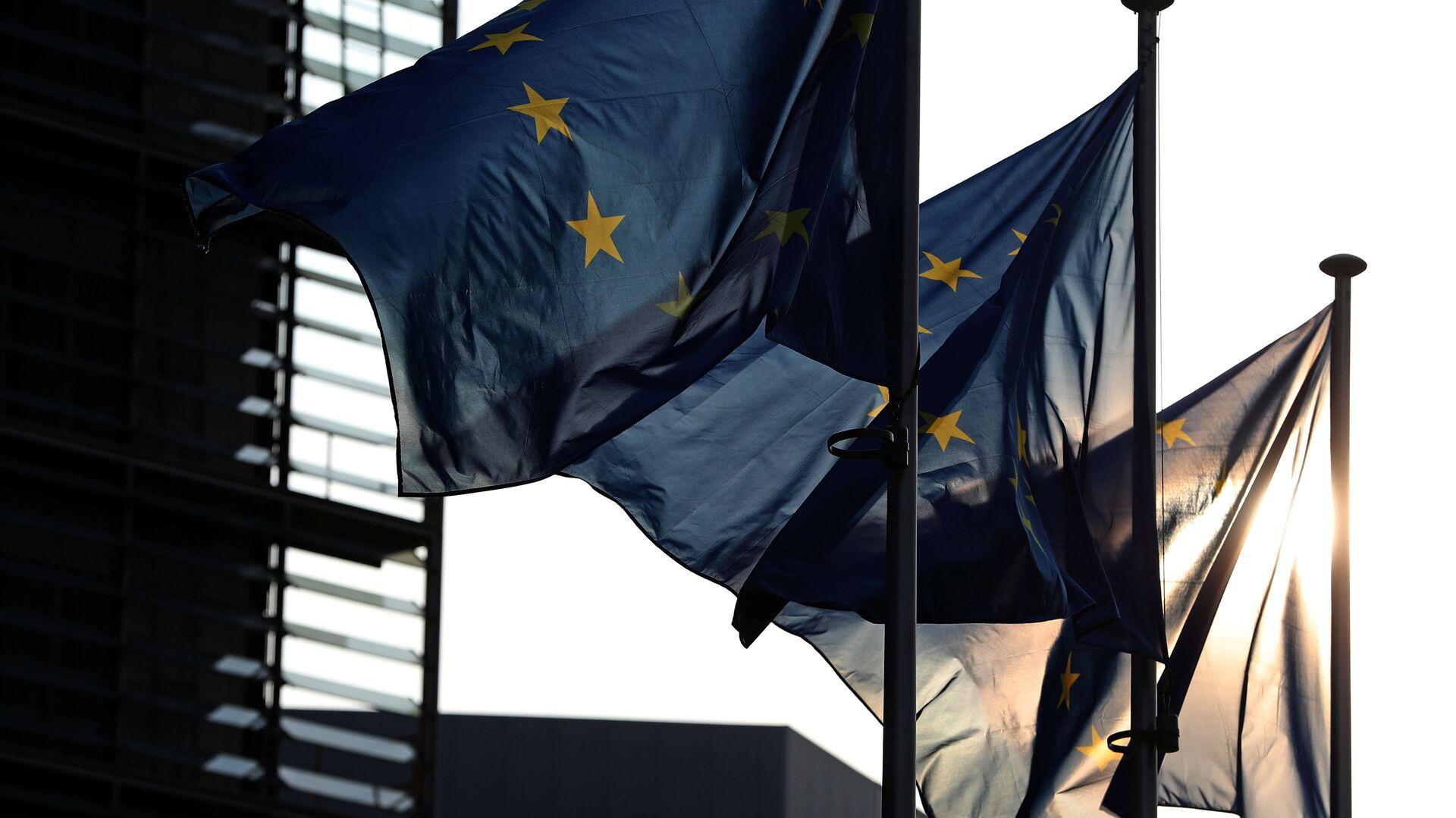 Vlajky EU v Bruselu - Sputnik Česká republika, 1920, 12.05.2021
