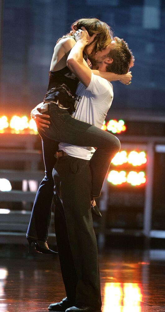 Herečka Rachel McAdamsová a herec Ryan Gosling během slavnostního předávání cen MTV Movie Awards