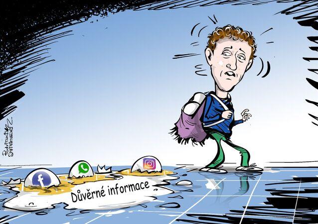 Zuckerberg má výpadek, všichni mají únik
