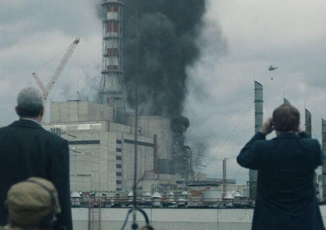 Snímek ze seriálu Černobyl