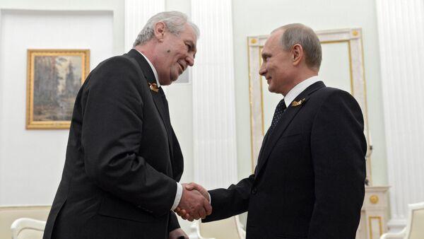 Miloš Zeman a Vladimir Putin. Ilustrační foto - Sputnik Česká republika