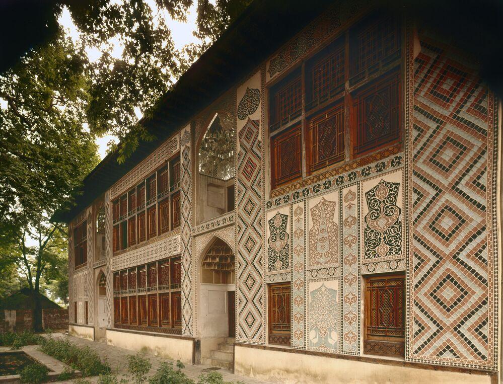 Vzhled paláce Šekiských chánů v Ázerbájdžánu