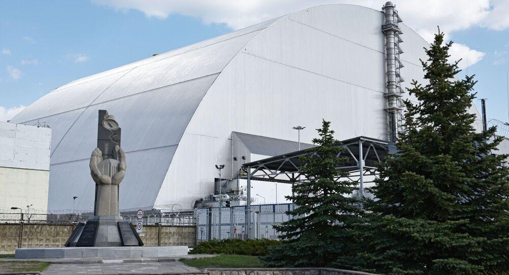 Nový sarkofág jaderné elektrárny v Černobylu