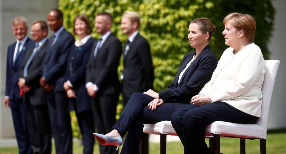 Angela Merkelová a dánská premiérka Mette Frederiksenová