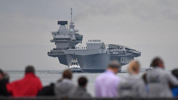 Nejnovější britská letadlová loď Queen Elizabeth  - Sputnik Česká republika
