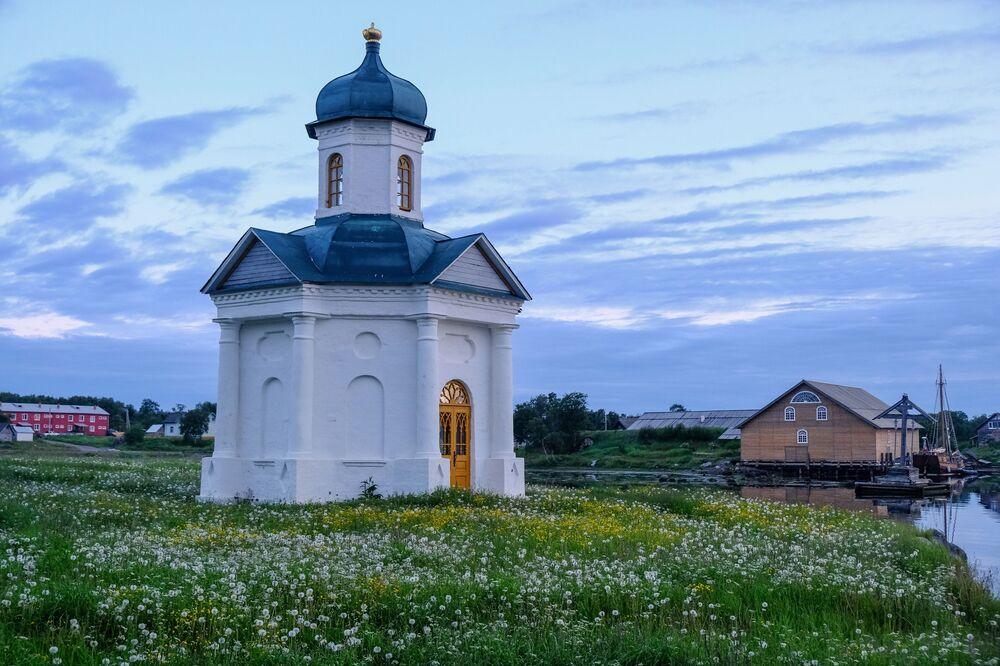 Kaple vedle Soloveckého kláštera