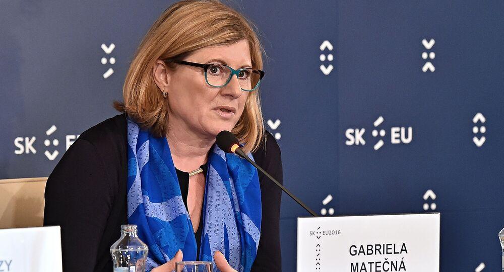 ministryně zemědělství Slovenska Gabriela Matečná