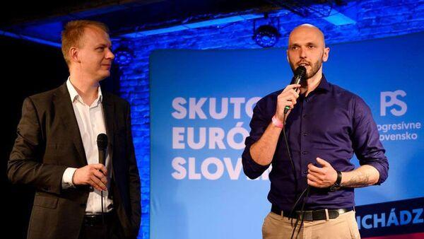 Slovenští politici Miroslav Beblavý a Michal Truban - Sputnik Česká republika