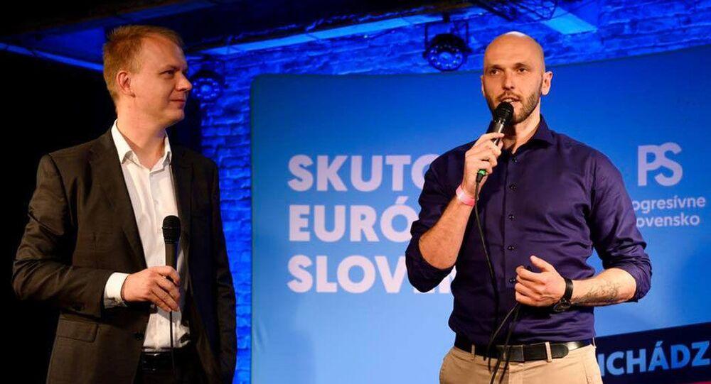 Slovenští politici Miroslav Beblavý a Michal Truban