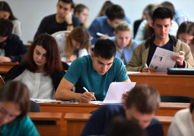 Studenti během přednášky