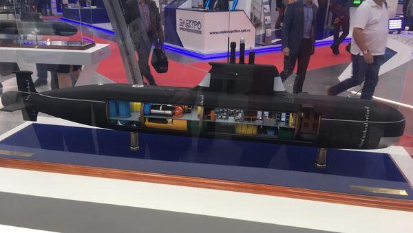 Maketa ponorky projektu Piraňa - Sputnik Česká republika