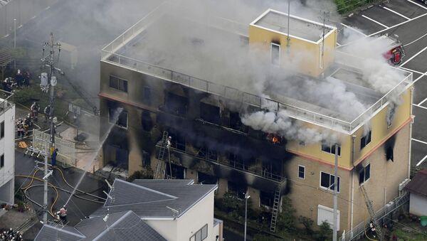Požár v japonském Kjótu - Sputnik Česká republika