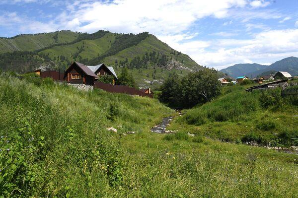 Muzeum a chráněná rezervace G.I. Čoros-Gurkiná. Vesnice Anós  v Čemalské oblasti Altajské republiky, Rusko - Sputnik Česká republika