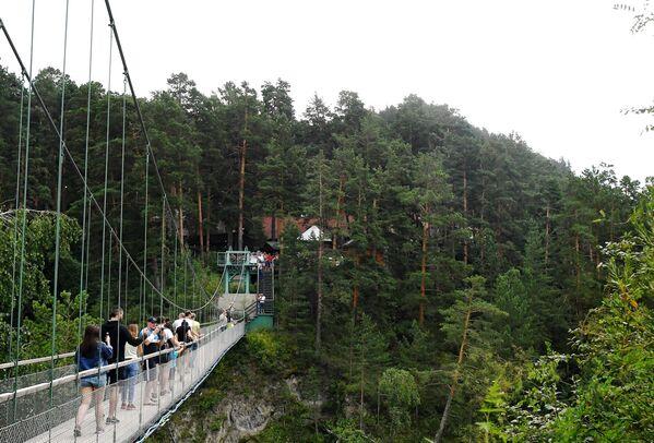Most na ostrov Patmos v Čemalské oblasti Altajské republiky, Rusko - Sputnik Česká republika