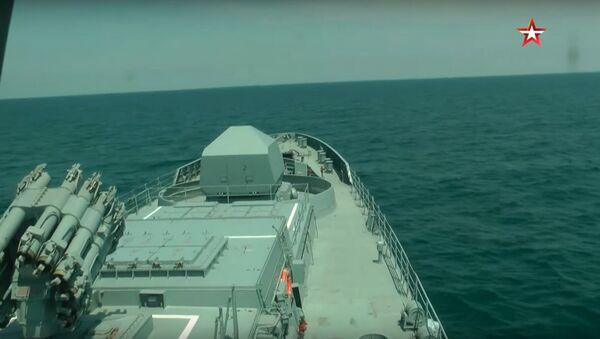 Bylo zveřejněno video zachycující raketové střelby v Černém moři - Sputnik Česká republika