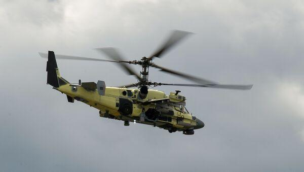 Vrtulník Ka-52 Alligator během zkoušek na závodě Progress - Sputnik Česká republika
