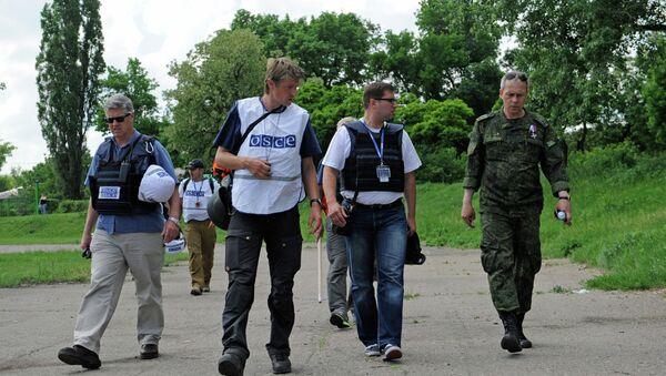 Představitelé OBSE v Doněcku - Sputnik Česká republika