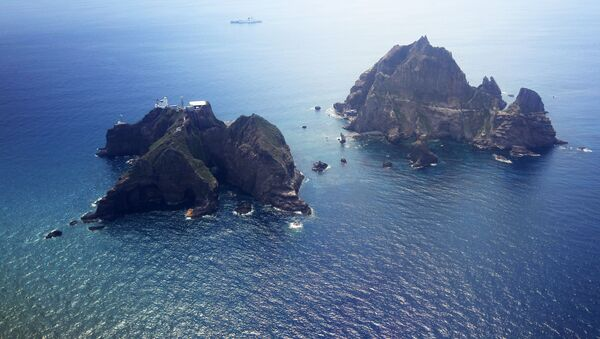Sporné ostrovy Tokdo (Takešima) v Japonském moři - Sputnik Česká republika
