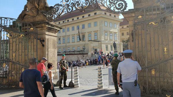 Demonstrace na Hradčanském náměstí  - Sputnik Česká republika