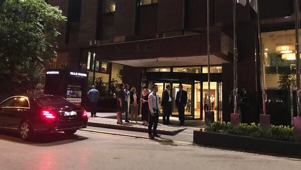 Nemocnice Güven, kam byl po útoku odvezen Alexandr Poganšev - Sputnik Česká republika