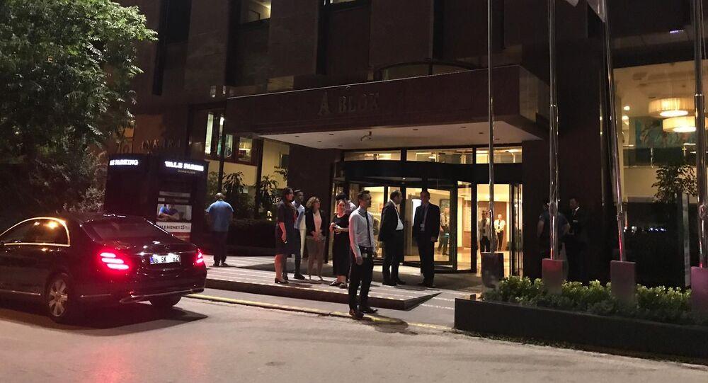 Nemocnice Güven, kam byl po útoku odvezen Alexandr Poganšev